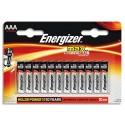 ENERGIZER blister de 12 piles aaa LR03 max E300103700