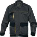 DELTA PLUS Veste D-Match 65% polyester 35%coton 4 poches fermeture zip gris jaune taille L