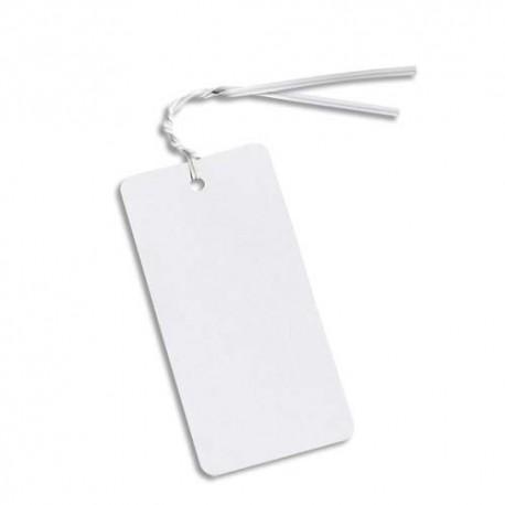 EMBALLAGE Paquet de 1 000 Liens blanc, fil métallique enrobé de polyéthylène - L25 cm x épaisseur 4 mm