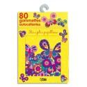 LITO DIFFUSION Boîte de 80 gommettes décorées, thème mes jolis papillons