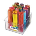 Crayon de couleur Giotto Stilnovo corps hexagonal assortis diamètre 3,3 mm schoolpack de 192