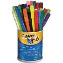 Feutre de coloriage Bic pointe moyenne pot de 36 feutres dessin 2x18 couleurs assorties