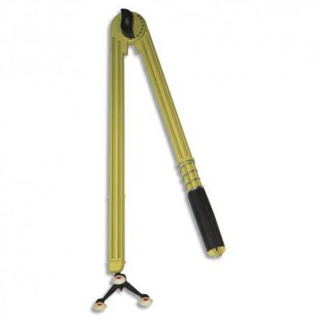 Compas en plastique incassable jaune 50cm 3 pieds ventouse et porte craies marqueur tableau Safetool