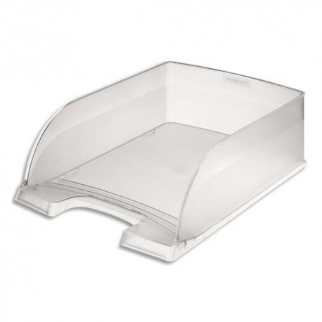 Corbeille à courrier LEITZ - Corbeille Jumbo Plus - Transparent - L25,5 x H10,3 x 36 cm