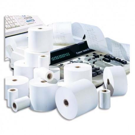 Bobine caisse Exacompta 1 pli format 57 x 50 x 12 mm papier offset blanc 60g