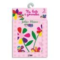 LITO DIFFUSION Boîte de 80 gommettes décorées, thème jolies fleurs
