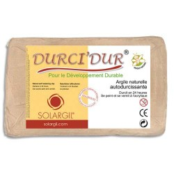SOLARGIL Argile naturelle autodurcissante DURCI'DUR / Pain de 10kg rouge