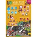 CBG Poster éducatif effaçable à sec format 52 x 76cm, thème le code de la route