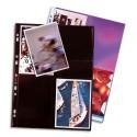 ELBA Sachet de 10 pochettes perforées pour 8 photos 10x15 cm , en polypropylène 12/100e, fond noir