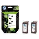 HP 339 (C9304E) - Cartouche encre N°339 Pack de 2 cartouches noires C9504EE