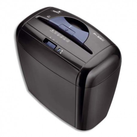 Destructeur de documents Fellowes individuel coupe croisée P-35C Noir 3213601