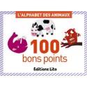 LITO DIFFUSION Boîte de 100 bons points thèmes l'alphabet des animaux avec texte pédagogique 6,2x8,2cm