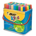 Feutre de coloriage Bic Visacolor XL pointe extra-large Baril de 48 feutres dessin couleurs assorties