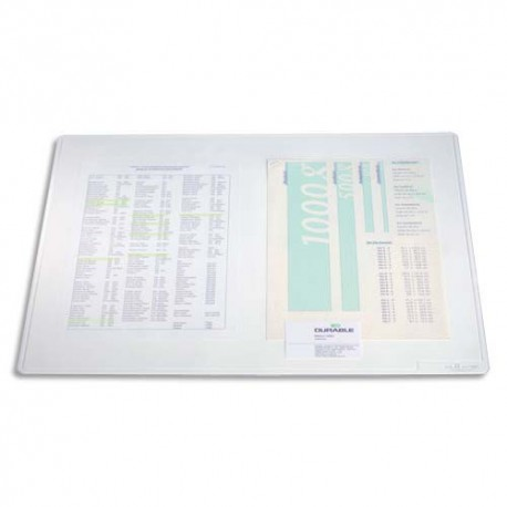 DURABLE Sous mains Duraglas transparent 50x65 cm