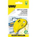 Colle UHU - DRY & CLEAN ROLLER jetable non permanent 8.5 M x 6.5 mm