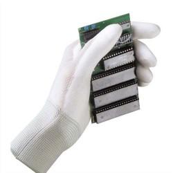 MAPA Lot de 10 paires de Gants Ultrane enduction polyuréthane pour industrie propre homme L21-27 cm gris