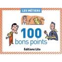 LITO DIFFUSION Boîte de 100 bons points thèmes les métiers avec texte pédagogique format 6,2x8,2cm
