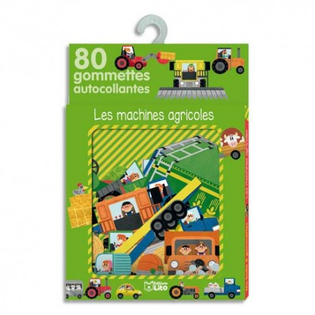 LITO DIFFUSION Boîte de 80 gommettes les machines agricoles