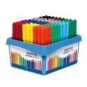 Feutre de coloriage Giotto Maxi Turbo pointe large schoolpack de 108 feutres dessin couleurs assorties