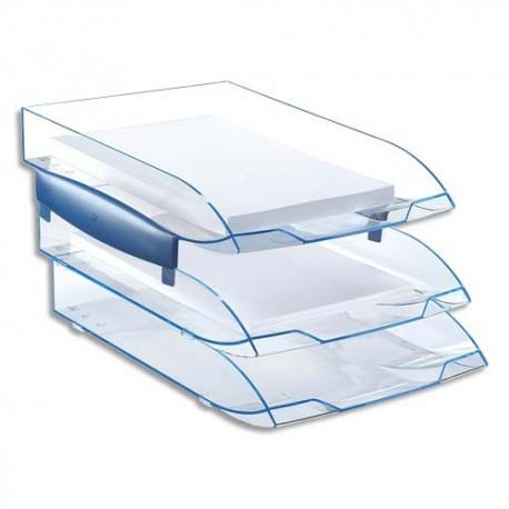 CEP Jeu de 2 réhausses pour corbeille à courrier ICE BLUE