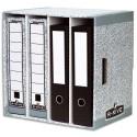 BANKERS BOX Module de classement 4 compartiments, montage automatique, en carton recyclé gris/blanc