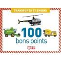 LITO DIFFUSION Boite de 100 bons points transports et engins, format 7,8 x 5,7 cm