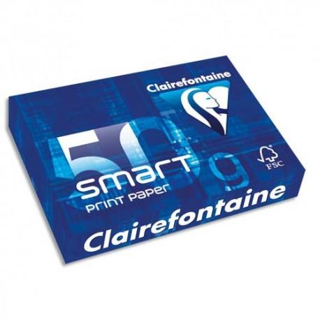 Ramette papier blanc A4 Clairefontaine Smart 70g 500 feuilles blanc