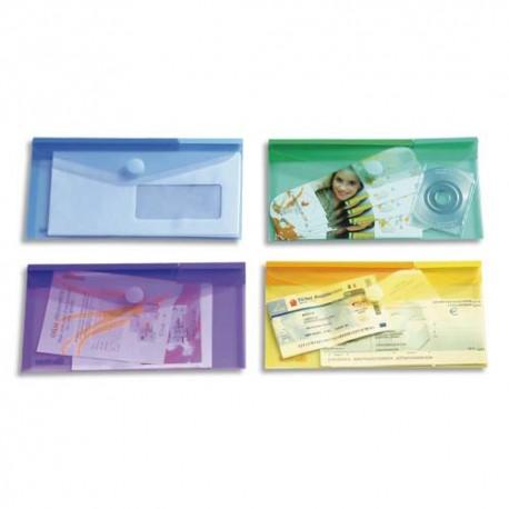 TARIFOLD Sachet de 6 enveloppes chéquier en polypropylène, gamme T Collection coloris assortis