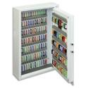 PHOENIX Armoire à clefs avec serrure électronique de haute sécurité, capacité 144 clés coloris blanc