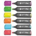 Surligneur Eco 5* pointe biseautée coloris assortis pochette de 6