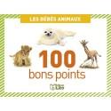 LITO DIFFUSION Boite de 100 bons points bébés animaux, format  7,8 x 5,7 cm