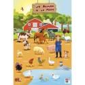 CBG Poster pelliculé  thème les animaux de la ferme- 52x76 cm