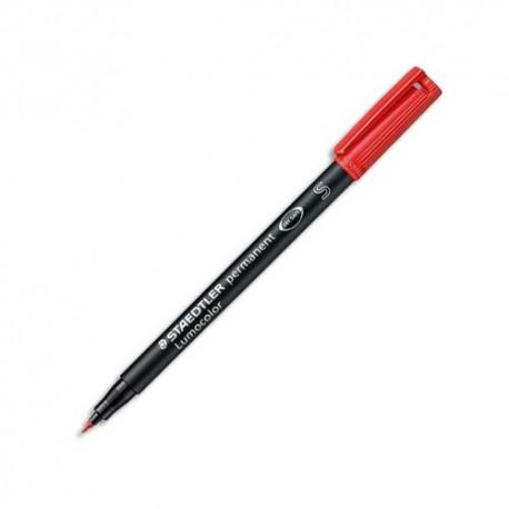 Feutre pour rétroprojection Staedtler Lumocolor pointe super fine encre permanente rouge