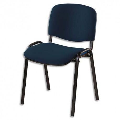 Chaise de conférence revetement tissu non-feu ISO Black Jet noir