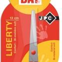 Ciseaux écolier 13cm droitier ou gaucher pour enfant lame inox, bouts arrondis anneaux bi matière JPC Liberty