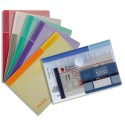 TARIFOLD Sachet de 6 porte documents à Velcro A6 TCollection en PP 20/100e coloris assortis