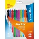 Stylo bille à capuchon Papermate Inkjoy sachet de 10 stylos coloris assortis