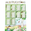 CBG Poster souple format 52 x 76cm les multiplications