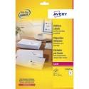AVERY Boîte de 640 étiquettes laser blanc 99,1 x 33,9 mm L7162-40
