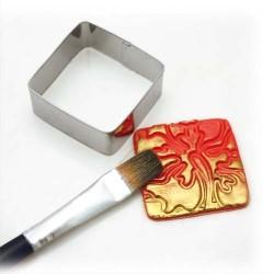 DTM Lot de 15 emporte-pièces métal 4+2,5+1,5cm 4 formes : coeur,carré,triangle,rond,fleur