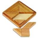 CULTURE CLUB Tangram bois massif de 20x20x3 cm Reconstituer un modèle à partir de 7 pièces géométriques
