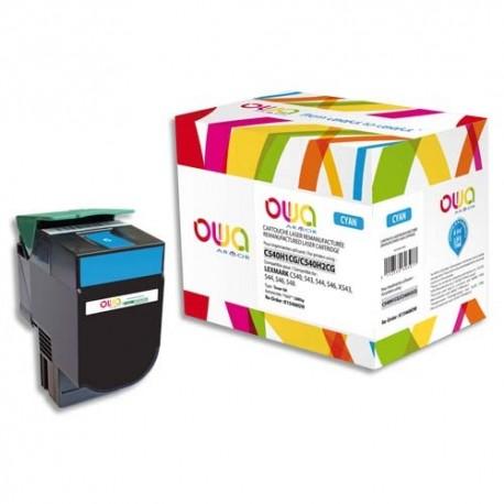 LEXMARK C540H1CG Cartouche toner cyan compatible de marque OWA C540H1CG