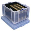 RUB Boîte de rangement 145 Litres + couvercle - Dimensions : L81 x H43 x P62 cm coloris transparent