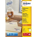 Etiquette AVERY 3478 - B/100 étiquettes blanches multi usages dimensions 210x297mm (3478-100)