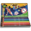 Crayon de couleur Bic Evolution Longueur 17,5cm. boite de 12 Coloris assortis