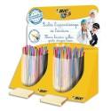 BIC Présentoir de 80 stylos et crayons BEGINNERS : stylo bille TWIST, crayon graphite