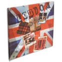 EXACOMPTA Album 60 photos UNION JACK (30 pages ivoires). 25x25cm. Couverture décorée recto/verso