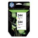 HP 344 (C9505E) - Cartouche encre N°344 Pack de 2 cartouches 3 couleurs C9505EE