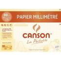 Papier millimétré Canson pochette de 12 feuilles millimétré bistre format A4 72 grammes