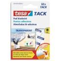 TESA tack pastilles adhesives double-face réutilisable et repositionnable pour objets légers 60X